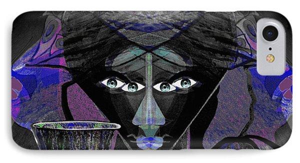 896 -  Darkness IPhone Case by Irmgard Schoendorf Welch