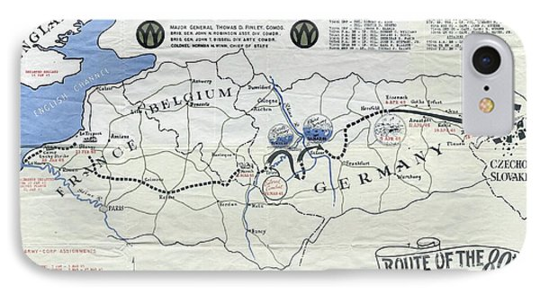 89th Infantry Division World War I I Map IPhone Case by Marilyn Smith