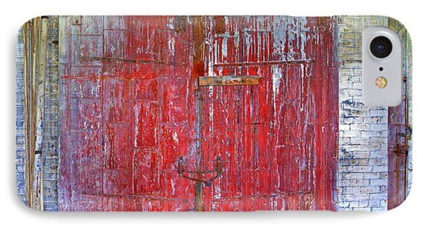 IPhone Case featuring the photograph 8th Floor Warehouse Door by Don Nieman