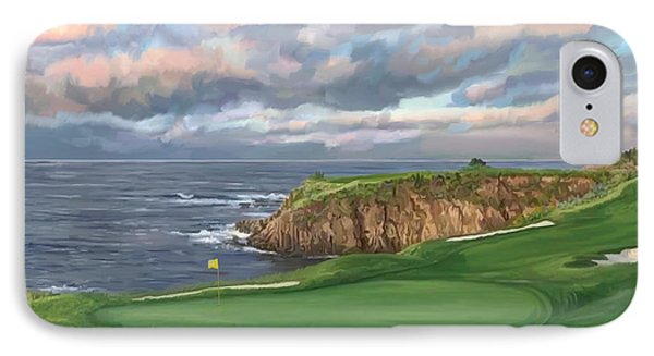 8th Hole Pebble Beach IPhone Case by Tim Gilliland