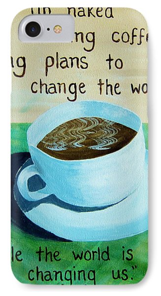 8x10 Dmb Coffee Art IPhone Case by Michelle Eshleman