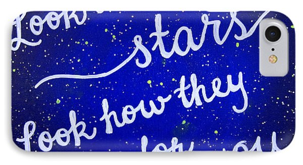 8x10 Look At The Stars IPhone 7 Case by Michelle Eshleman