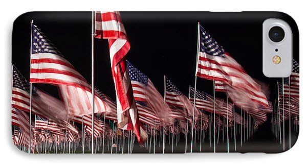 IPhone Case featuring the digital art 9-11 Flags by Gandz Photography