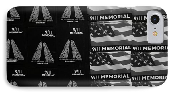 9/11 Memorial For Sale In Black And White Phone Case by Rob Hans