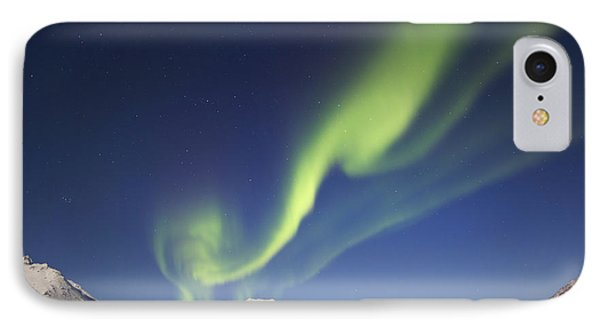 Aurora Borealis With Moonlight Phone Case by Joseph Bradley