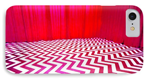 IPhone Case featuring the painting Black Lodge by Luis Ludzska