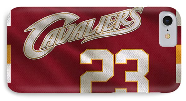 Cleveland Cavaliers Uniform IPhone Case by Joe Hamilton