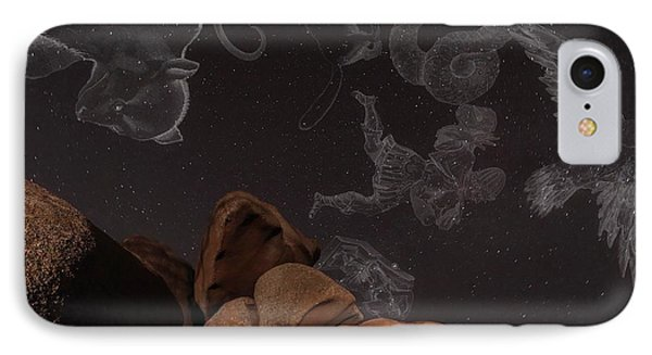 Constellations In A Night Sky IPhone Case by Laurent Laveder