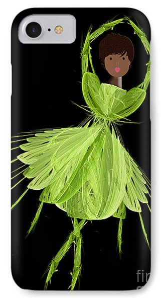 9 Green Ballerina Phone Case by Andee Design