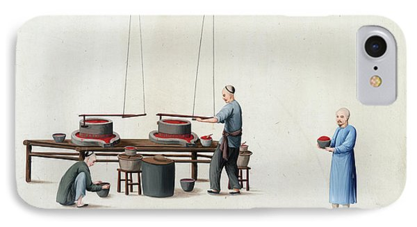 Manufacture Of Vermilion IPhone Case by British Library
