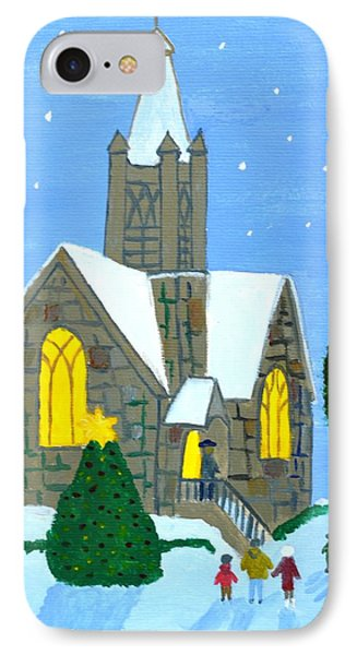 IPhone Case featuring the painting Merry Christmas by Magdalena Frohnsdorff