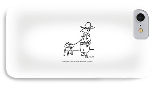 It's Not Difficult - You Go 'hi IPhone Case by Charles Barsotti