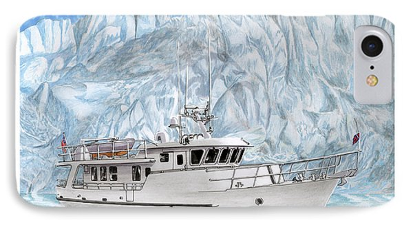 65 Foot World Cruising Yacht IPhone Case by Jack Pumphrey