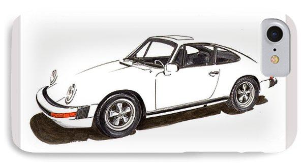 911 White On White 1978 Porsche IPhone Case by Jack Pumphrey