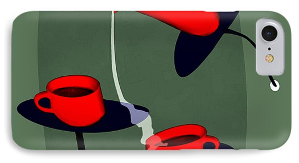 950 - Coffee  Perverse IPhone Case by Irmgard Schoendorf Welch