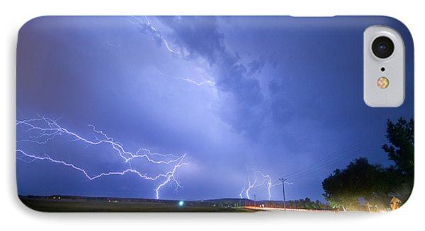 95th And Woodland Lightning Thunderstorm View Phone Case by James BO  Insogna