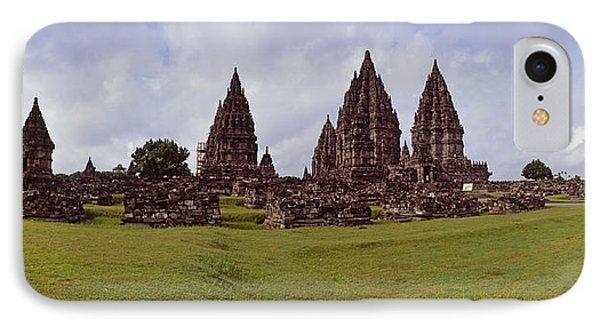 9th Century Hindu Temple Prambanan IPhone Case by Panoramic Images