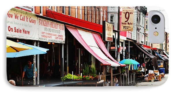 9th Street Italian Market Philadelphia Phone Case by Bill Cannon