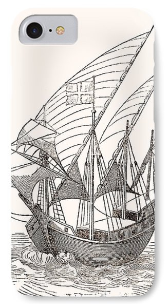 A 15th Century Caravel  IPhone Case