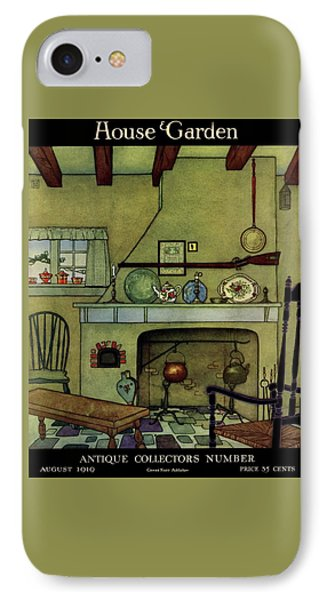 A 1920's Idea Of A Colonial Kitchen IPhone Case by Harry Richardson