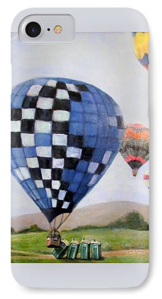 A Balloon Disaster IPhone Case by Donna Tucker