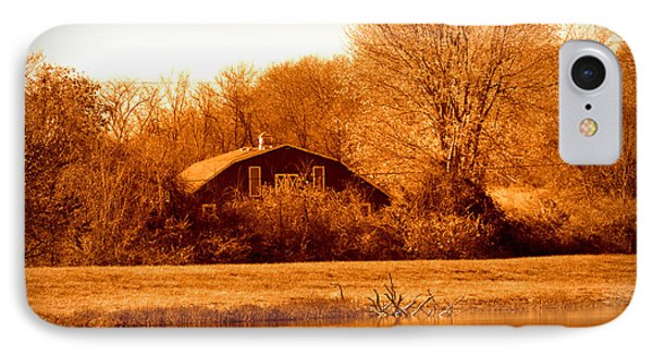 IPhone Case featuring the photograph A Barn On The Lake by Karen Kersey