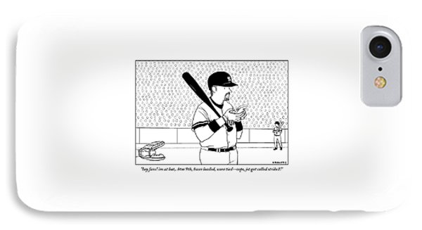 A Baseball Player Yankees Twitters IPhone Case by Alex Gregory