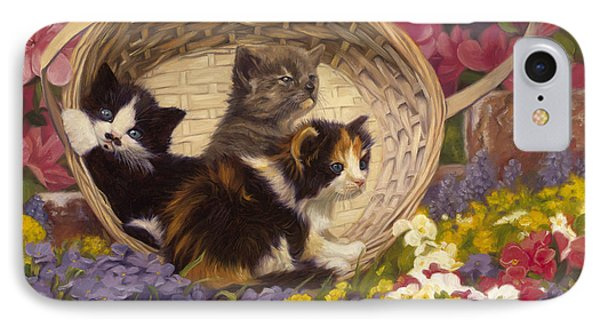 A Basket Of Cuteness IPhone Case by Lucie Bilodeau