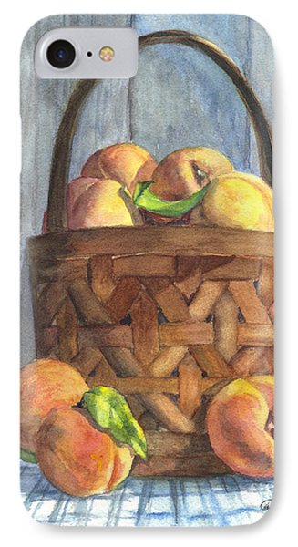 A Basket Of Peaches Phone Case by Carol Wisniewski