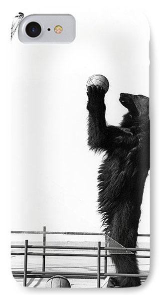 A Basketball Bear IPhone Case by Underwood Archives