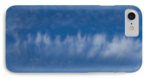IPhone Case featuring the photograph A Batch Of Interesting Clouds In A Blue Sky by Eti Reid