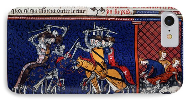 A Battle; Pestilence IPhone Case by British Library