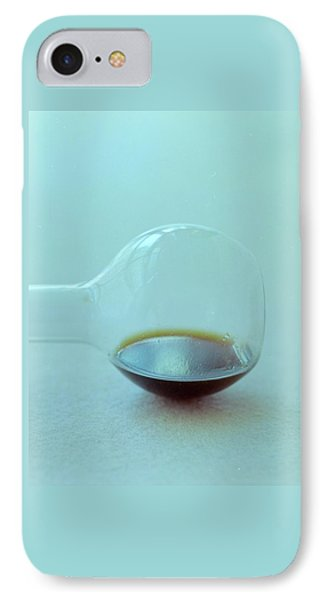 A Beaker With Vinegar IPhone Case by Romulo Yanes
