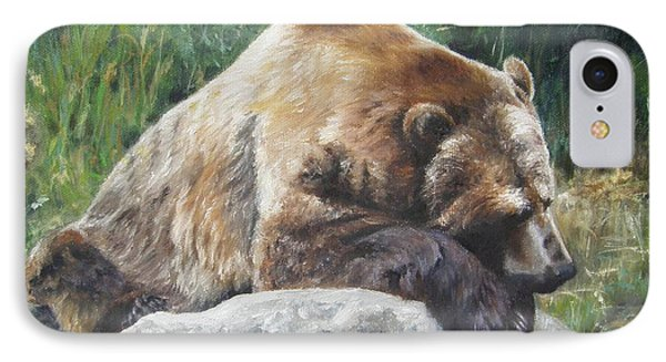 IPhone Case featuring the painting A Bear Of A Prayer by Lori Brackett