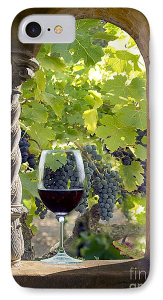 A Beautiful Day At The Vineyard IPhone Case by Jon Neidert