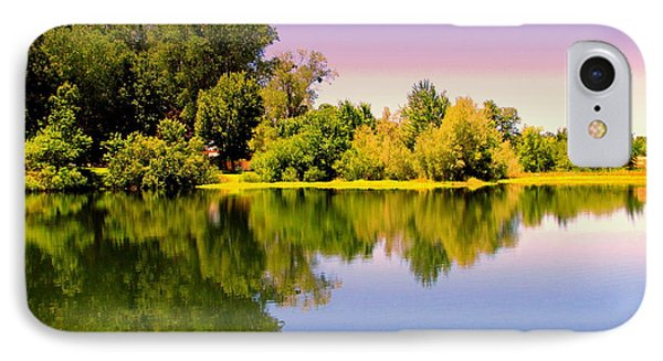 A Beautiful Day Reflected IPhone Case by Joyce Dickens