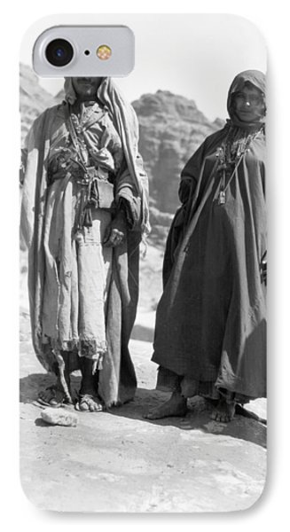 A Bedouin And His Wife IPhone Case by Underwood Archives