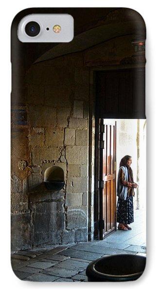 A Beggar At The Door Of A Church Phone Case by RicardMN Photography