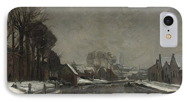 A Belgian Town In Winter IPhone Case