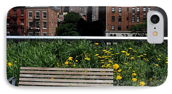 A Bench On The High Line In New York City Phone Case by Diane Lent
