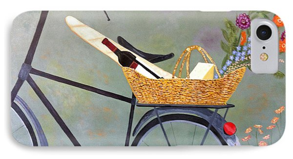 A Bicycle Break IPhone Case by Brenda Brown