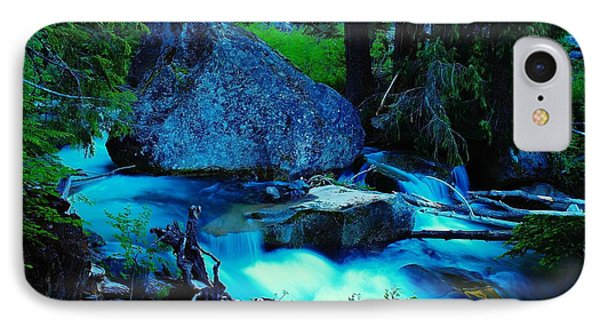 A Big Rock On The Way To Carter Falls IPhone Case by Jeff Swan