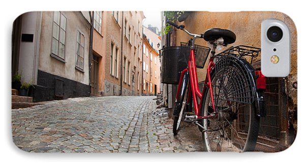 A Bike In The Old Town Of Stockholm IPhone Case