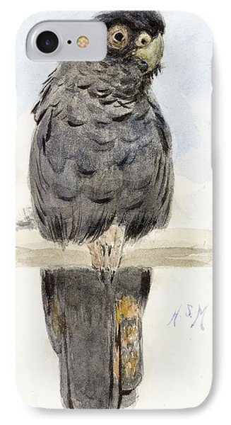 A Black Cockatoo Phone Case by Henry Stacey Marks
