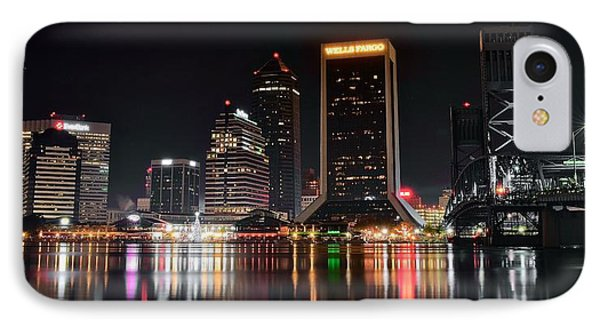 A Black Night In Jacksonville IPhone Case by Frozen in Time Fine Art Photography