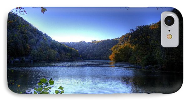 A Blue Lake In The Woods IPhone Case by Jonny D