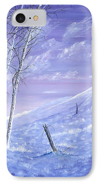 A Blue Winter IPhone Case by Carl Genovese