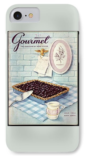 A Blueberry Tart IPhone Case by Hilary Knight