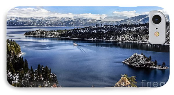 A Bluebird Day At Emerald Bay IPhone Case by Mitch Shindelbower