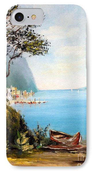 A Boat On The Beach Phone Case by Lee Piper